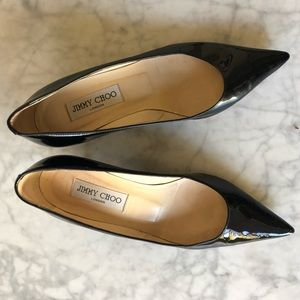 Jimmy Choo size 36 black patent leather pumps